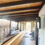 פרגולה סגורה מעץ